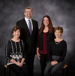 Left to Right: Marci Logsdon, Rev. F. Matt Fowler, Jackie Urkoski, Christy Bousquet